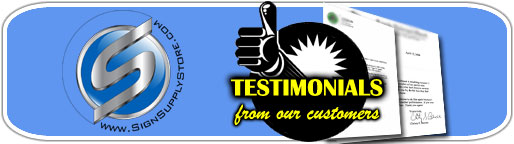Sign Supply Store Testimonials