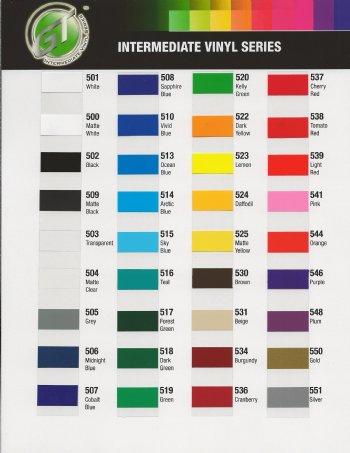 Gt5 Color Chart
