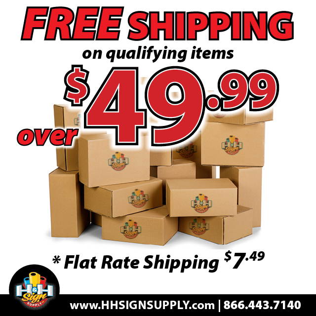Free Ground Shipping for online orders  over $49.99